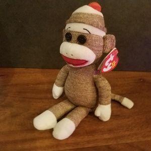 NWT Socks the Sock Monkey Ty Beanie Babies Perfect